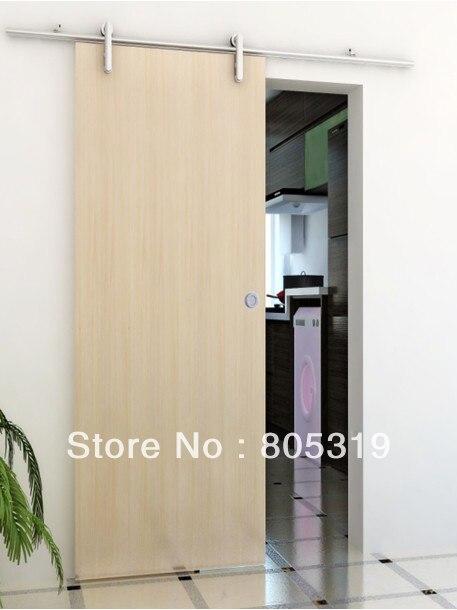 DIYHD 150cm ~ 200cm aluminium porte coulissante en bois matériel de porte de grange élégant européen kit de piste de porte de grange - 2