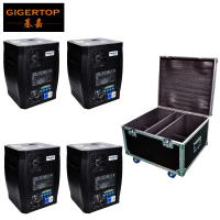 Road Case 4in1 Pack 600W Stage Fireworks Titanium Powder Cold Spark Fountain DMX Sparkular Machine Party Club DJ Effect Machine