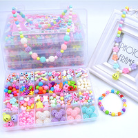 Diy Bead For Children Toy Bracelet Necklace Jewelry Beads Set Accessories For Girls Toy With Box