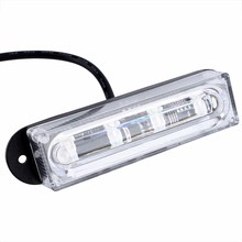 4 LED Car Truck RV Emergency Beacon Flash Light Bar Hazard Strobe Warning Amber Front Bumper Grille Driving Light Bar