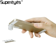 Supereyes 200X Microscope Camera Macro Lens Magnifier Cellphone Microscope Inspection for SmartPhones Microscope Portable Clear