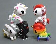 1 pcs 7 cm íris Tokidoki unicórnio sereia boneca action figure Mini Japonês coleção meninas kawaii Dos Desenhos Animados brinquedo do cavalo d10