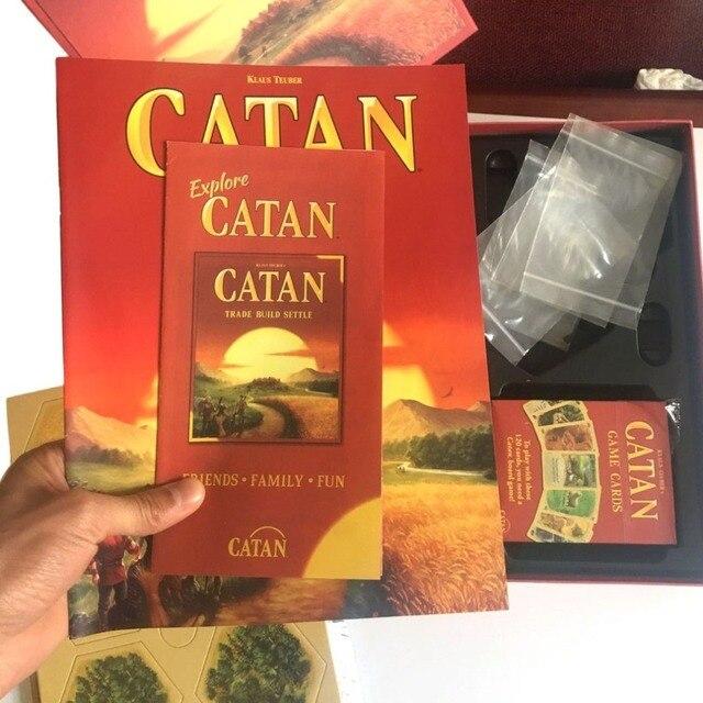 Catan לוח משחק משפחת קלף משחק צעצועים חינוכיים נושא אנגלית מקורה צד שולחן ספקי צד