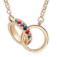 Lunga collana di cristallo austriaco placcato oro bianco gioielli ciondolo dichiarazione collana collares multi strato di oro all'ingrosso
