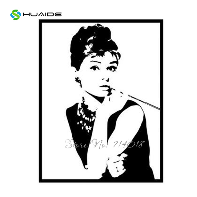 Delicieux Audrey Hepburn Wall Stickers Nordic Style Wall Art Vinyl Wall Sticker For  Girls Room Beauty Salon