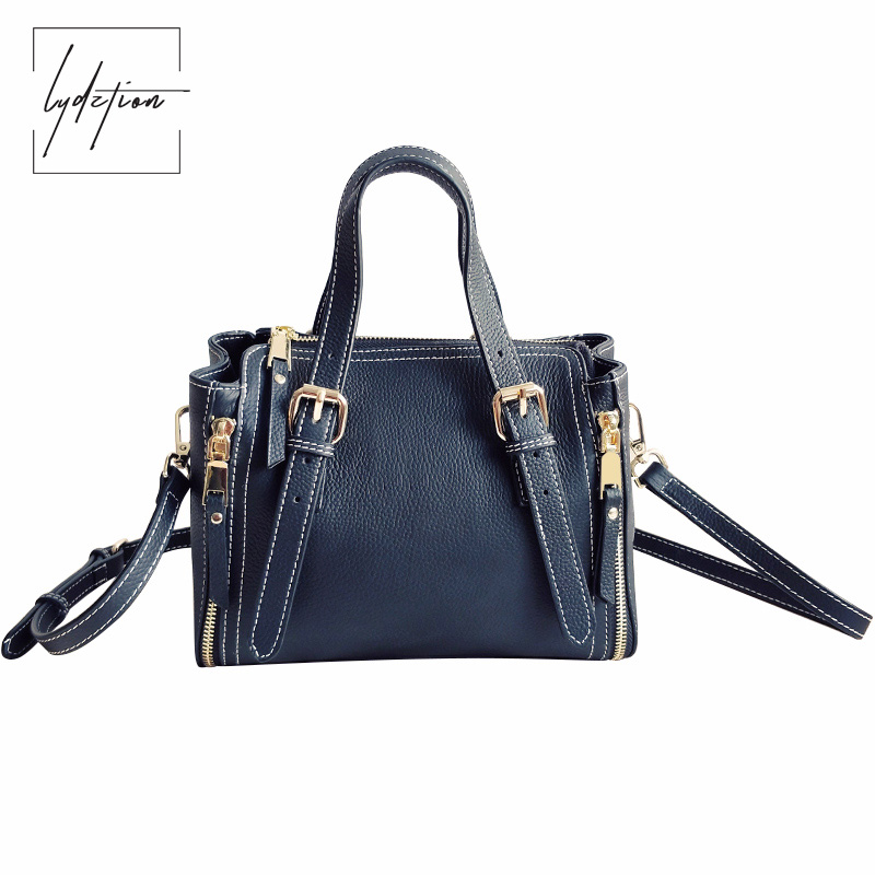 Lydztion New Ladies Tote Cowhide 2018 Spring Black Shoulder Crossbody Bag Designer Fashion Clutch Luxury Bags Top Handle Handbag 2017 120cm diy metal purse chain strap handle bag accessories shoulder crossbody bag handbag replacement fashion long chains new
