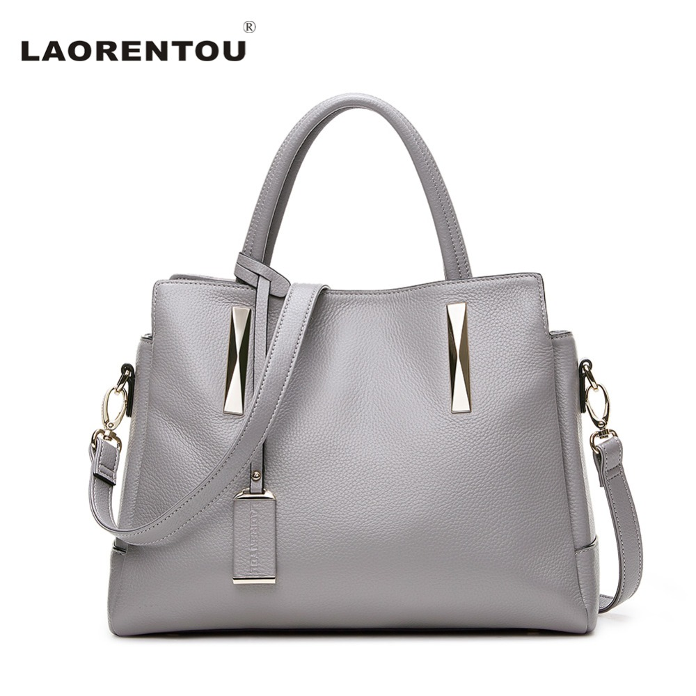 LAORENTOU Genuine Leather Handbag For Women Luxury Fashion Shoulder Lady's Bag M