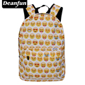 Deanfun 2017 Emoji School Bag 3D Printed Casual Women Backpack for Traveling Rucksack