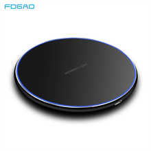 FDGAO 15W/10W Qi Wireless Charger For iPhone X XS Max XR 8 Plus Desktop Ultra Fast Charging Pad Samsung S8 S9 S10