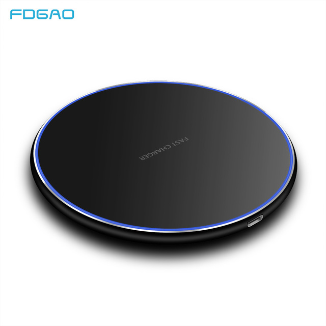 FDGAO 15W/10W Qi Wireless Charger For iPhone X XS Max XR 8 Plus Desktop Ultra Fast Wireless Charging Pad For Samsung S8 S9 S10