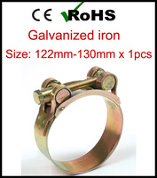 122mm 130mm x 1pcs High Torque Metal Hose Clamps with T Bolt Strong Force Heavy Duty Adjustable Tube Clips