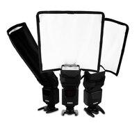 Big size 25*25 cm fotografia riflettore di luce del flash Esterno diffusori flash pieghevoli portatili riflettore per nikon Pentax