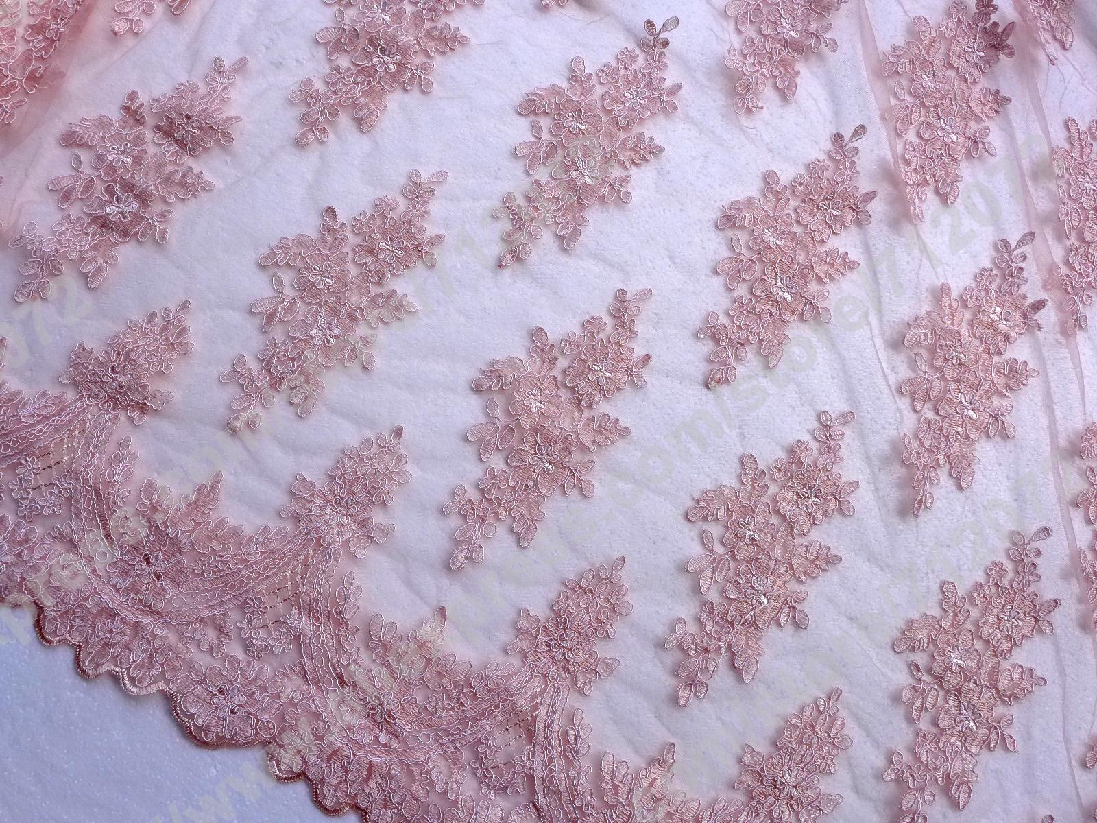 Buy pink robin embroidered wedding dress for Purchase fabric by the yard