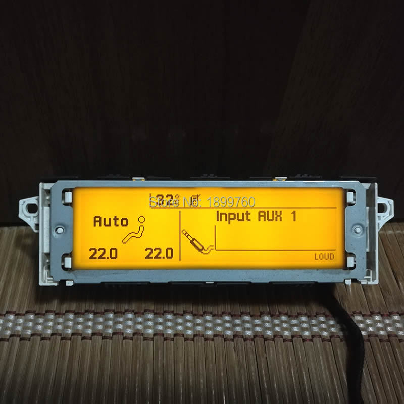 Multi Function Screen support USB Bluetooth Display yellow monitor 12 pin for Peugeot 307 308 407