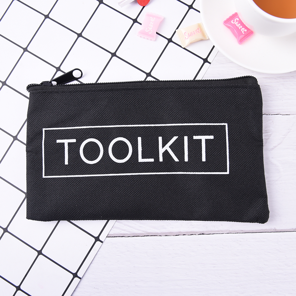 19x11cm Waterproof Tool Kit Bag 600D Oxford Cloth Tool Bag Zipper Storage Instrument Case