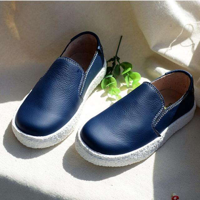 2016 Весна и осень детская обувь Одного квартиры Британский стиль Шапочка Ребенка Малыша Обувь мальчиков причинно квартиры Танцевальные обувь