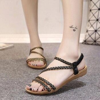 Women Sandals Summer Women Shoes Woman Flip Flops Flat Ladies Sandals Sandalias Mujer 2018 Plus Size 36-42 girl shoes in sri lanka
