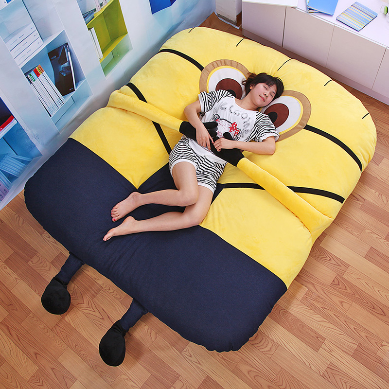 Totoro mattress is single lazy tatami cartoon small yellow people double student children mattress thickening