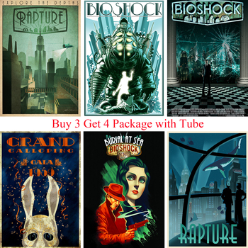 BIOSHOCK RAPTURE Posters Movie Wall Stickers White Coated Paper PrintsClear Image Home Decoration Livingroom Home Art Brand  beyblade set