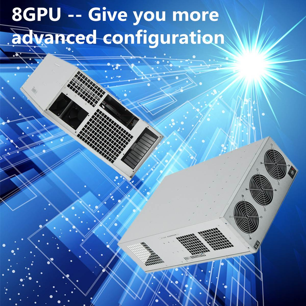 670x430x177 мм стекируемые 8U глубокий сервер чехол открыть горного воздуха Рамки Rig Графика secc USB для 8 GPU Eth btc Эфириума Шахтер машина