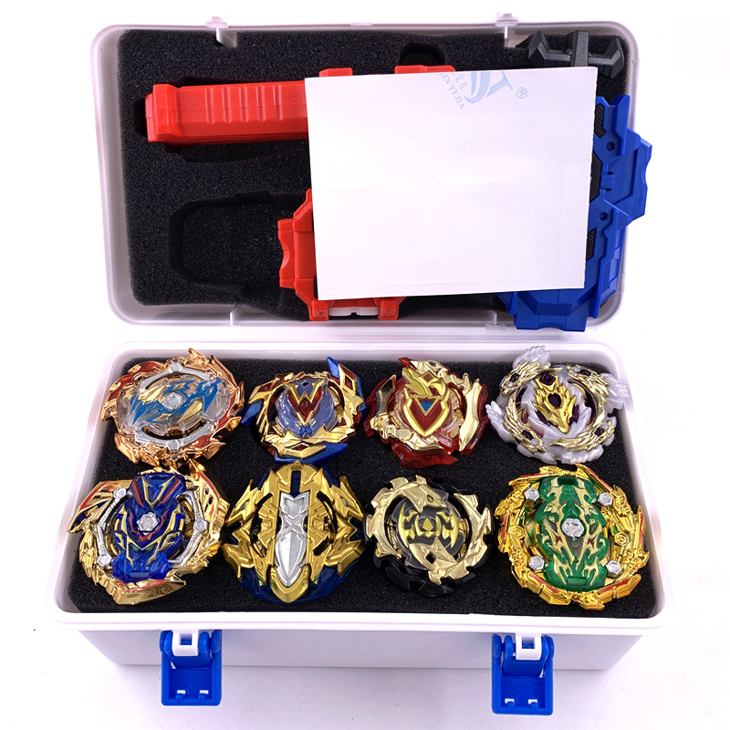 New gold <font><b>Beyblade</b></font> Set burst ToupieB-134 <font><b>B</b></font>-127 <font><b>B</b></font>-122 <font><b>B</b></font>-<font><b>135</b></font> Metal Fusion golden bables Fafnir Box bey blade blade For Childn Toy image
