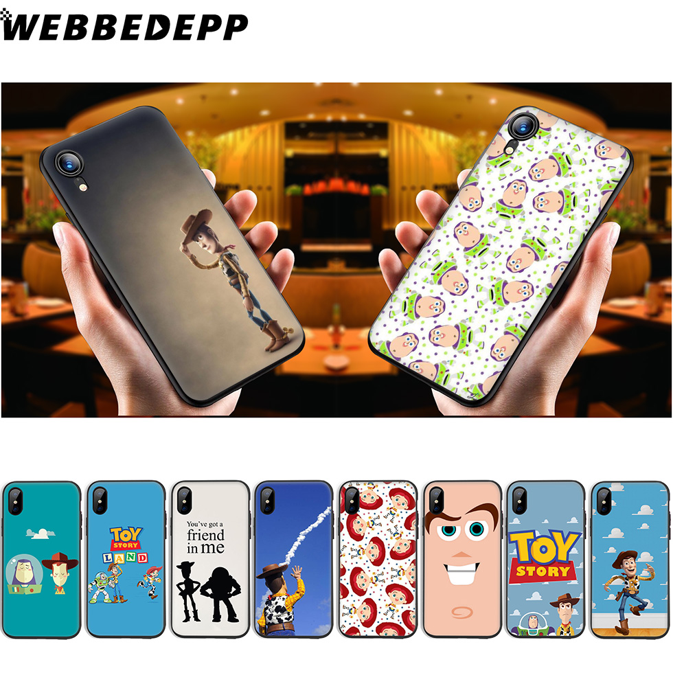 WEBBEDEPP <font><b>Toy</b></font> <font><b>Story</b></font> Soft Silicone Case for <font><b>iPhone</b></font> 11 Pro Xr Xs Max X or 10 8 7 <font><b>6</b></font> 6S Plus 5 5S SE Case 8 Plus image