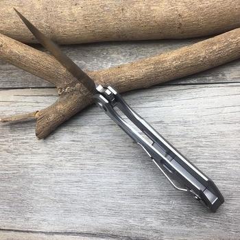 FREETIGER FT601 Mechanical Warrior Folding Pocket Knife D2 Blade CNC Steel Ball Bearing Hunting Camping Small EDC Pocket Knife 5