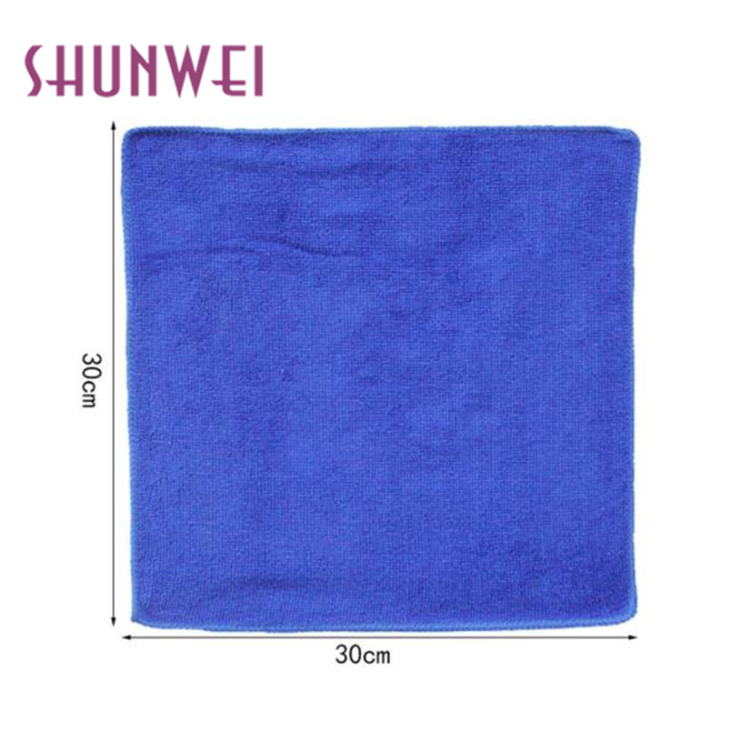 Dropship shunwei Hot Selling car-styling car wash 6PCS Blue Absorbent Wash Cloth Car Auto Microfiber Cleaning Towels Apr 19
