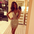 gold Tight Short /Mini Sequined Cocktail Dresses Sexy Luxury Cheap Homecoming Dresses Party Gowns elegant  Z961