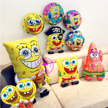 spongebob party supplies character balloons baby kids childrem classic toys happy birthday decoration