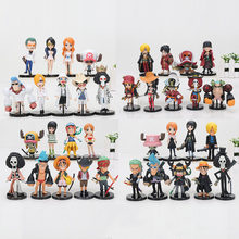 9Pcs/set anime One Piece Figures Monkey D Luffy Roronoa Zoro Nami Usopp Sanji Tony Chopper Nico Franky Brook PVC Action Figures(China)