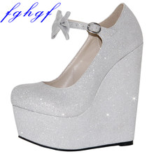 a415f5391777cf Popular Sexy Silver Wedges-Buy Cheap Sexy Silver Wedges lots from ...