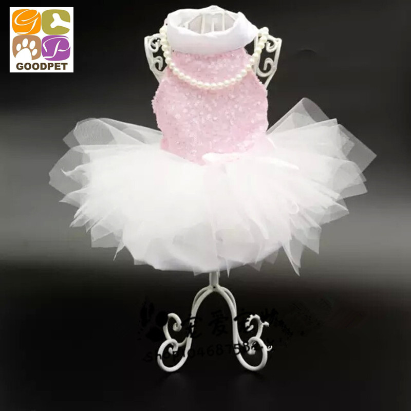 Dog Clothing For Wedding Dogs Princess Dresses Pet Cute Skirt Clothing Supplies XS, S, M, L, XL GP150910-2