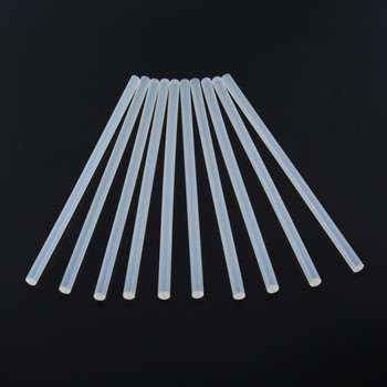 10Pcs 7mm x 200mm Hot Melt Glue Sticks For Electric Glue Gun Craft Album Repair Tools For Alloy Accessories 10pcs 7x100mm hot melt glue sticks for 7mm electric glue gun craft diy hand repair tool adhesive sealing wax stick pink