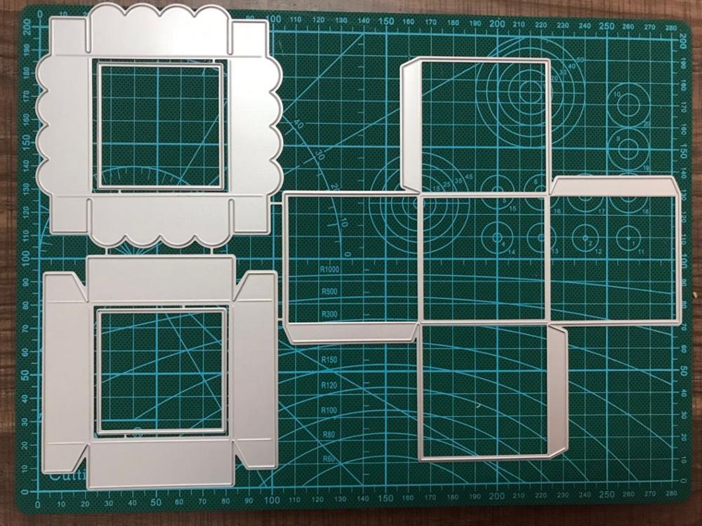 Caixa Julyarts 3D Morre a máquina De Corte De Corte De Metal Para DIY Scrapbooking Embossing Lace Handwork Presente Criativo Artesanato Morre