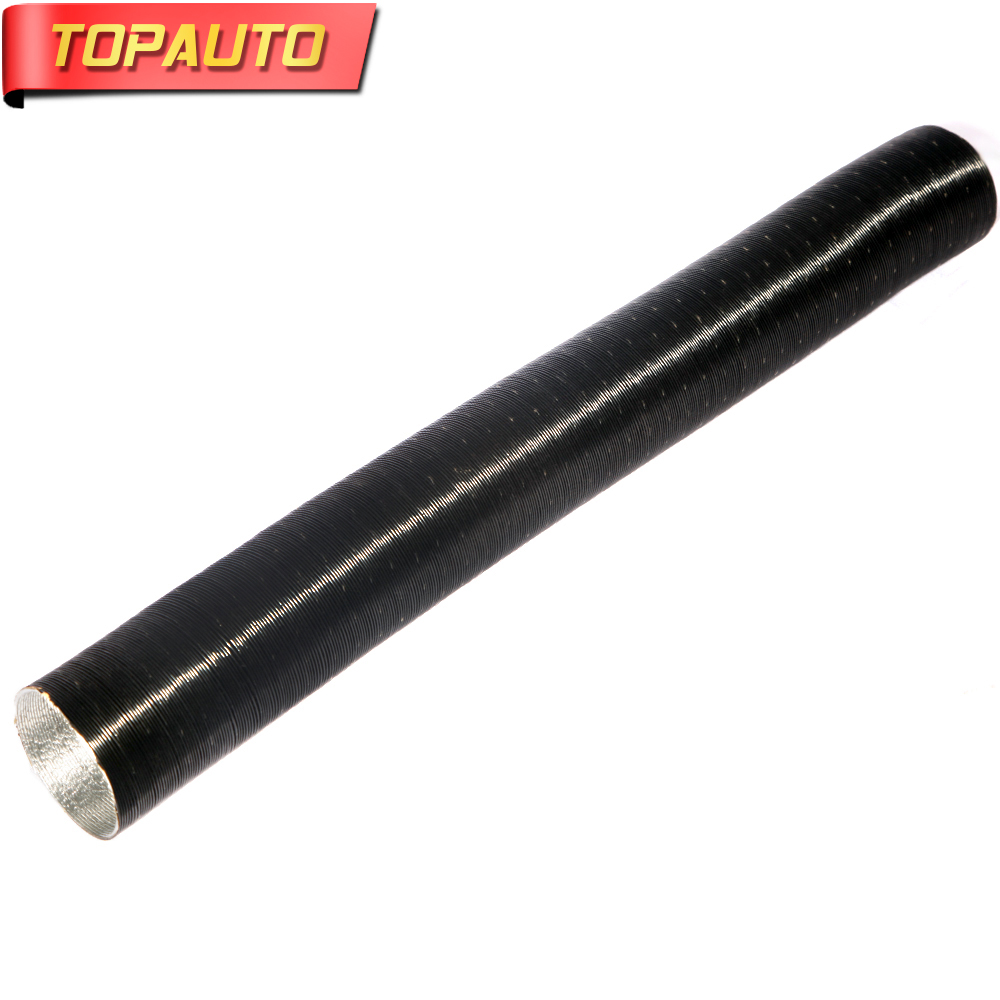 TopAuto 25 42 52 60 77mm 90mm Air Intake Pipe Outlet Pipe Tube Corrugated Exhaust Hose Car Truck Webasto Heater Part Accessories