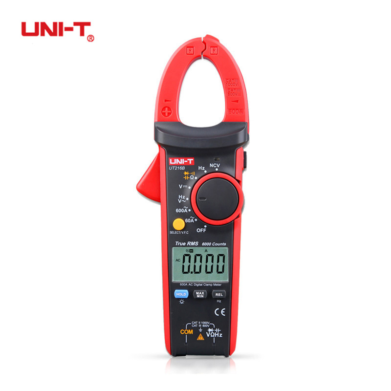 цены на UNI-T UT216B 600A True RMS Digital Clamp Meters Auto Range Electric Multimeters Capacitance Temperature & NCV Test Megohmmeter в интернет-магазинах