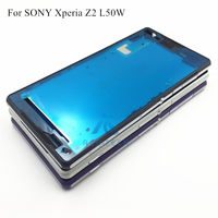 Original Replacement Housing Metal Middle Frame Cover With Dust Plug And Adhesive For Sony Xperia Z2