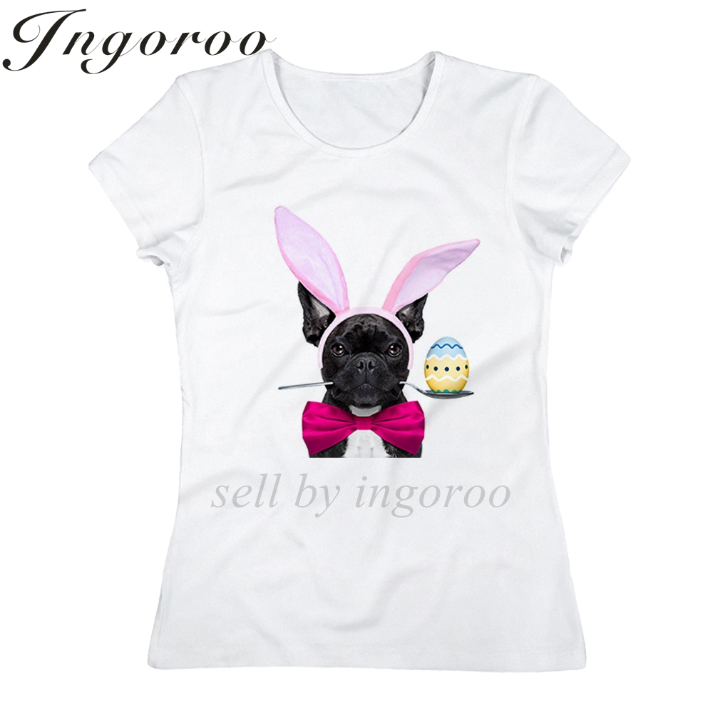 Babaseal Mode Osterhase Hund Druck Brief Graphic Tees Kpop Rock T ...