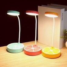 Настольный светильник светодиодный свет стол с глаз защиты огни для чтения книги ночь исследование зарядка через usb 3 файлов затемнения USB светодиодный фрукты лампы