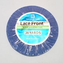 1 рулон 0,8 см* 36 ярдов сильная синяя Двухсторонняя клейкая лента для волос