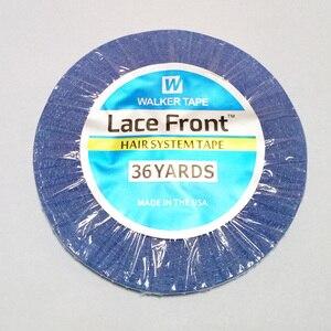 Image 2 - Shippig חינם 1 רול 0.8cm * 36 מטרים חזק כחול דו צדדי דבק ווקר קלטת קלטת שיער