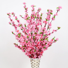Artificial Flowers Peach Blossom Branch Cherry Fake Branches Wedding Decoration Silk Flower Landing Placed