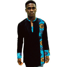 Private custom dashiki shirt mens long sleeve tops african print clothes casual shirts male africa clothing