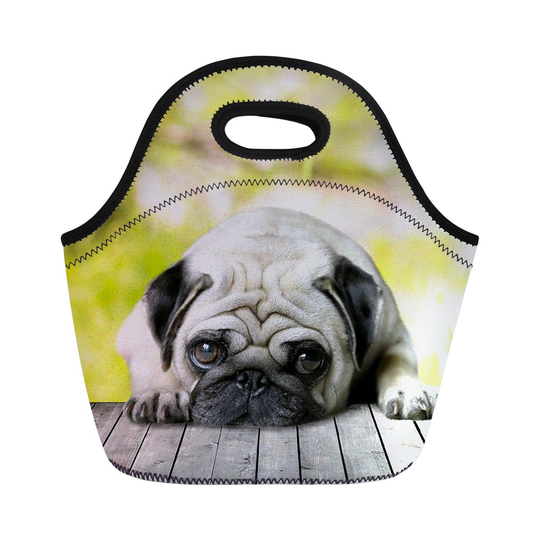 NOISYDESIGNS Soft Small Bulldog Printing Lunch Bags for Kids School Thermal Insulate Food Carry Lunchbags Woman Picnic Totes
