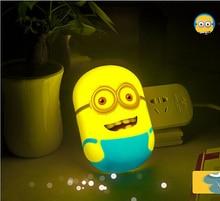 Cute Cartoon Light up toys LED night lights eyes lamp bedroom decoration sensor light baby children