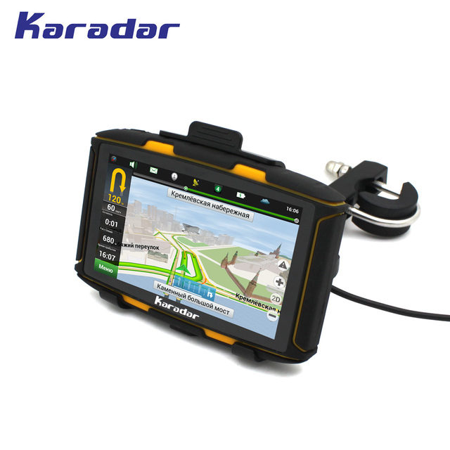 KARADAR New motorcycle GPS 5 inch IPS Screen Android Waterproof GPS with WIFI bluetooth FM for car golf carts ATVs