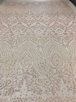 stock 5yards  HQ031#  golden nude    flash powder lace fabric for bridal wedding dress/sawing Free shipping