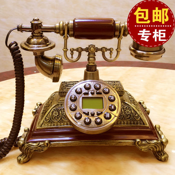 Villa solid wood antique telephone European telephone set back to the back of the phone home fashion fixed office