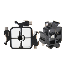 All-metal Three 3 In 1 Hot Shoe Mount Adapter Flash Light Stand Umbrella Holder Bracket For Canon Nikon Pentax Olympus camera(China)